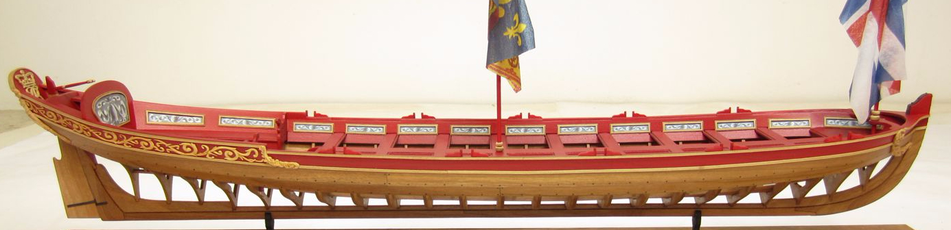 Queen Anne Style Barge Ship Model Kit